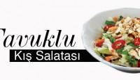 Tavuklu Kış Salatası Yapılışı